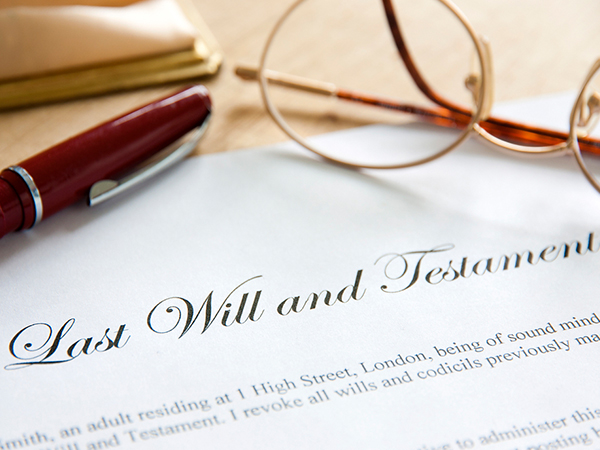 Image of last will and testament